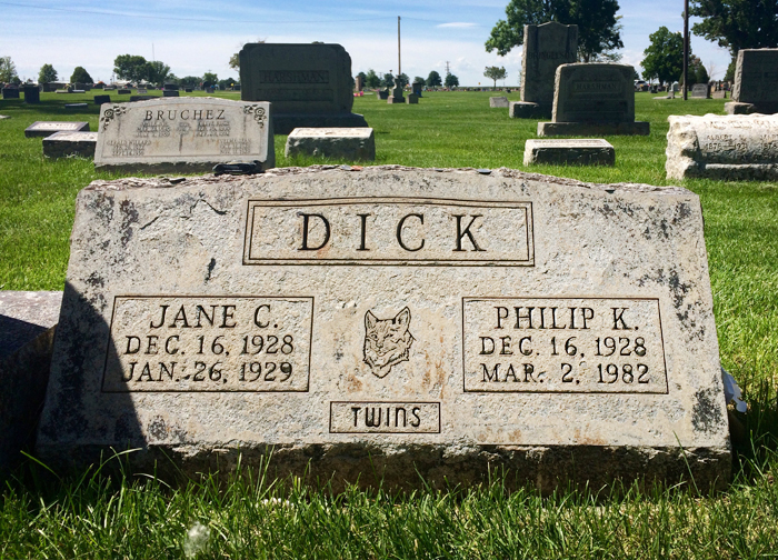 Image result for philip k dick grave